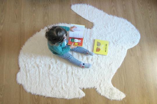 DIY Alfombra con forma de conejo