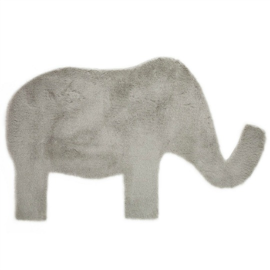 Alfombra silueta de elefante