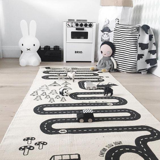 Alfombra oyoy adventure rug decoraci n beb s - Alfombra carretera ...