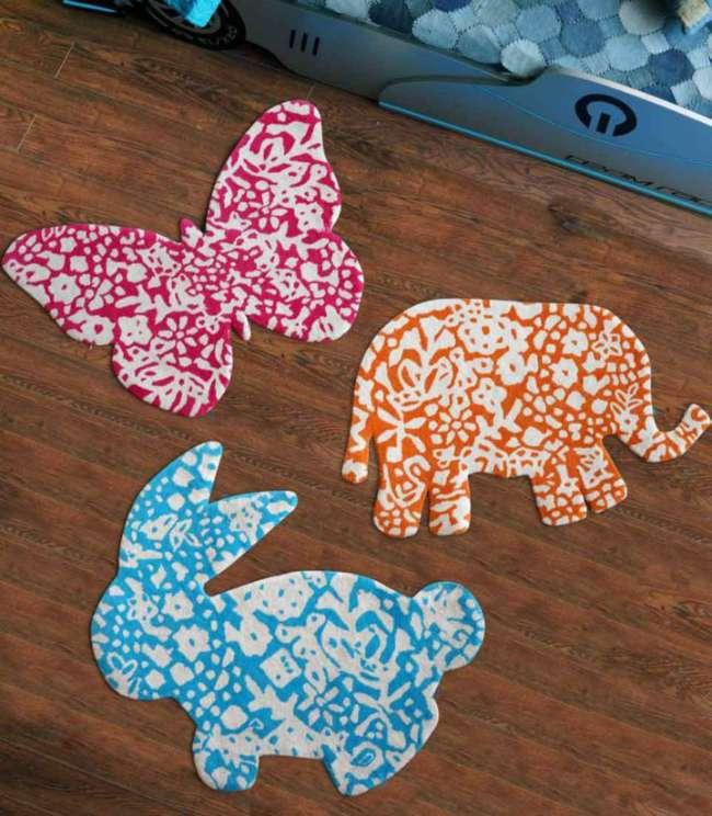 Alfombras infantiles con diseños de animales