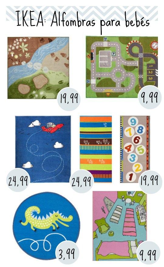 Alfombras baratas para bebés: Ikea