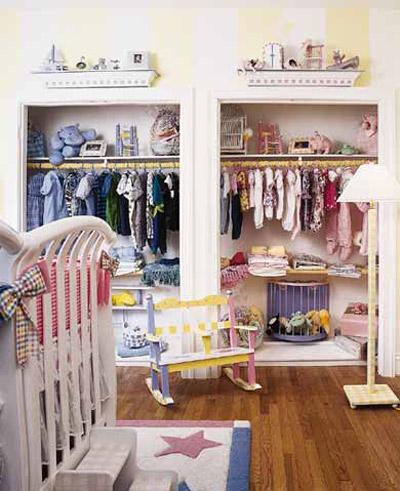 El armario de dos gemelos ni o y ni a decoraci n beb s - Armarios para habitacion nina ...