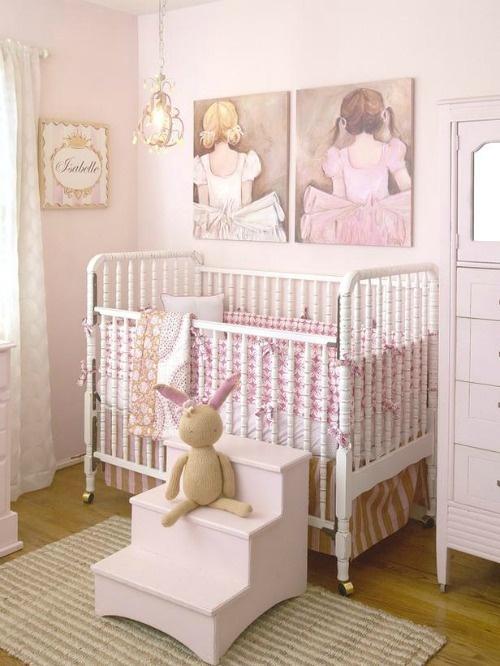 Habitaciones para ni as en rosa decoraci n beb s - Cuartos para bebes nina ...