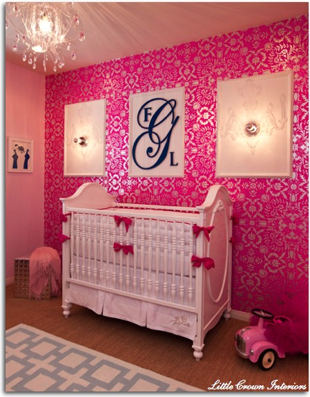 Habitaciones para ni as en rosa decoraci n beb s for Chic baby nursery ideas