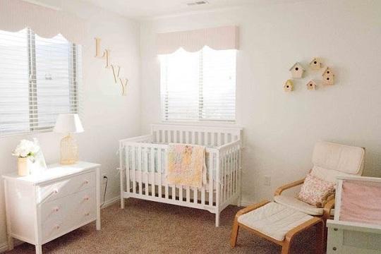 ¡Qué delicia! en tonos suaves para una habitación muy romántica.