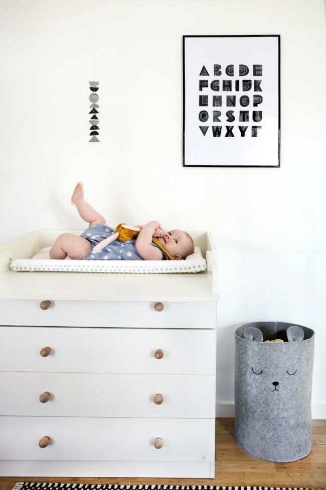 Cesto de ropa sucia para bebe DIY