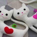 Cojín muñeco con forma de gato