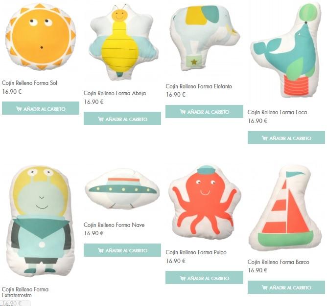 Cojines para bebés y niños de Rubio Hogar