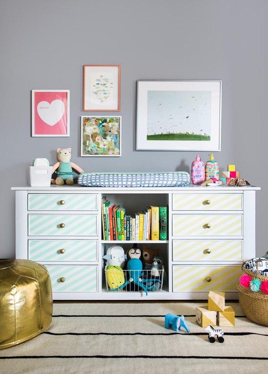 Cómodas restauradas para el dormitorio del bebé