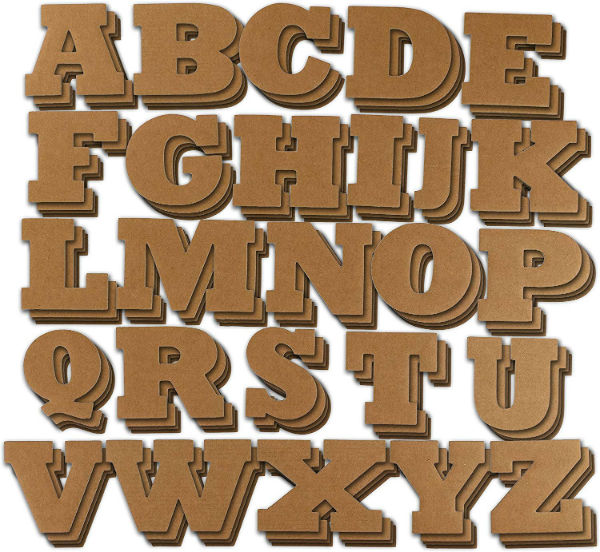 Letras baratas de cartón abecedario