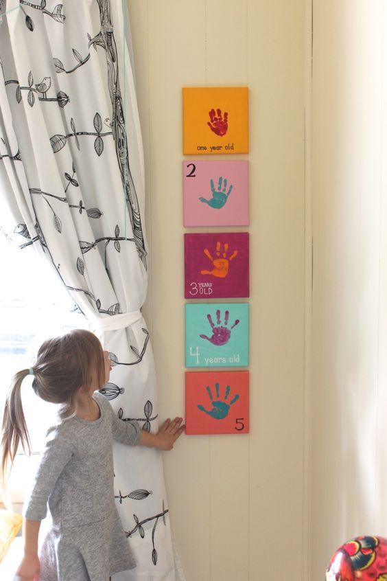 Idea, cuadros para pintar con las manos