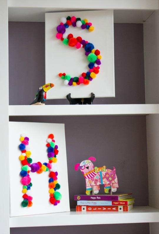Hazlo tú mismo: cuadros con pompones