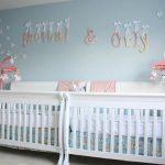 Decoración de habitación para dos niñas gemelas