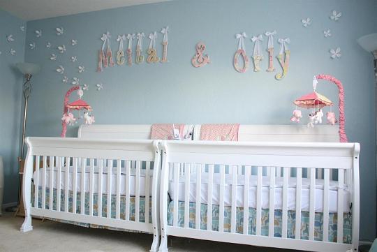 habitación para dos niñas gemelas