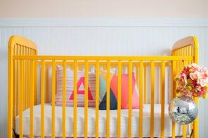 10 Habitaciones de bebes con cuna amarilla