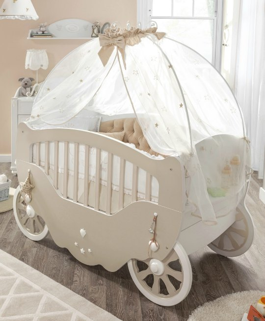 Cuna fairy para peque as princesas decoraci n beb s for Cunas y muebles para bebes