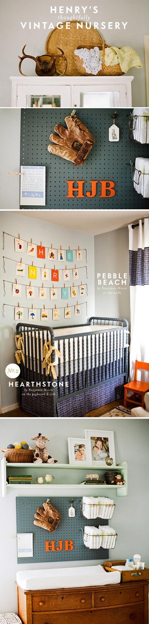 Un dormitorio de bebé muy bien organizado