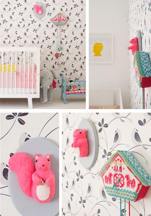 decoracin bebs se estrena en pinterest inspiracin bebes ardilla rosa