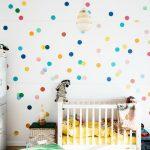 Inspiración confeti para la habitación del bebé