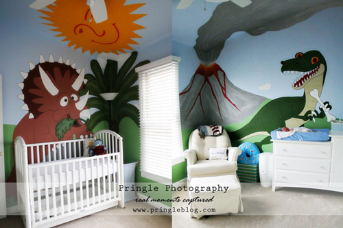 Decoración bebés Dinosaurios