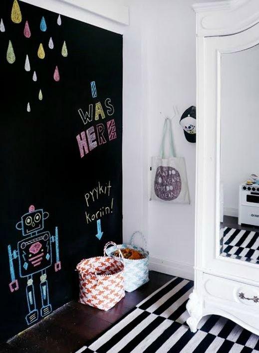 Habitaciones de beb s decoradas con pintura pizarra for Habitaciones decoradas para ninas