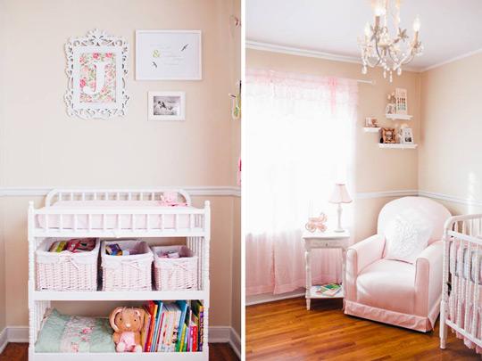 romntica habitacin para beb nia