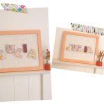 DIY Cuadro con letras de tela
