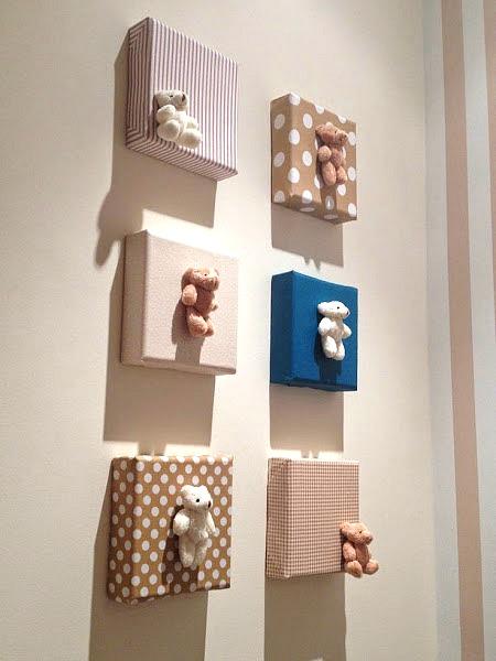 composicin de cuadros homemade para la habitacin del beb - Cuadros Originales Hechos A Mano
