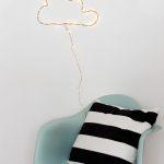 DIY Nube luminosa decorativa
