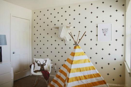 Diy Decoracion Bebe ~ Una estupenda idea para decorar las paredes infantiles, incluso las de