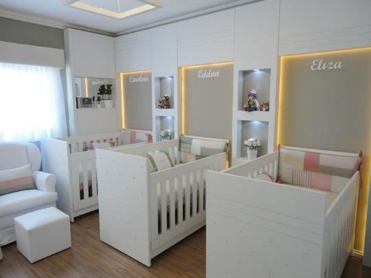 Habitación para tres bebés