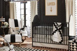 10 Dormitorios de bebés de color negro