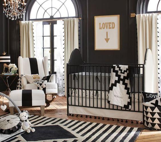 dormitorios de bebés de color negro