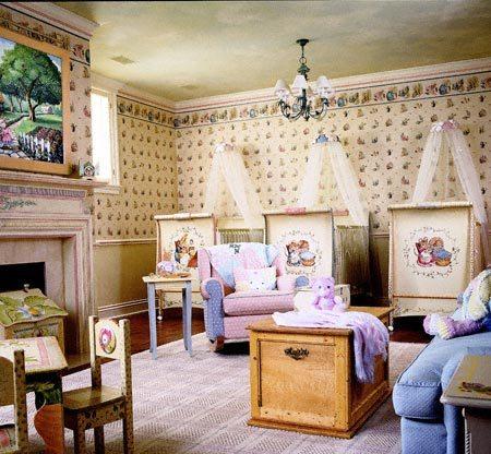 Dormitorio para bebés trillizos