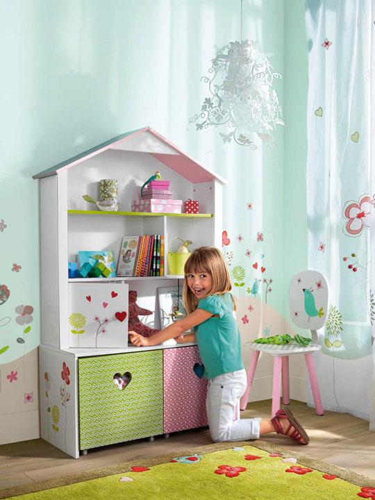 Estanter as con forma de casita decoraci n beb s - Estanterias para bebes ...