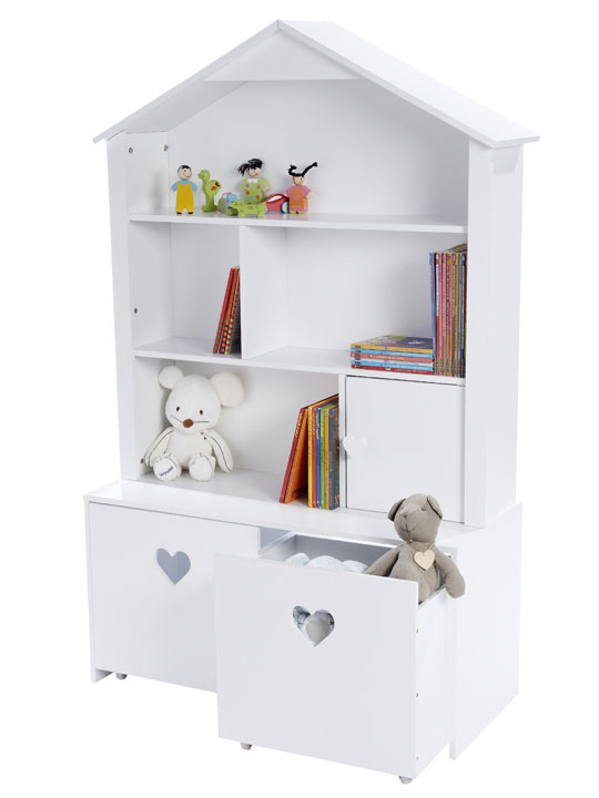 Estanter as con forma de casita decoraci n beb s - Estanteria pared infantil ...