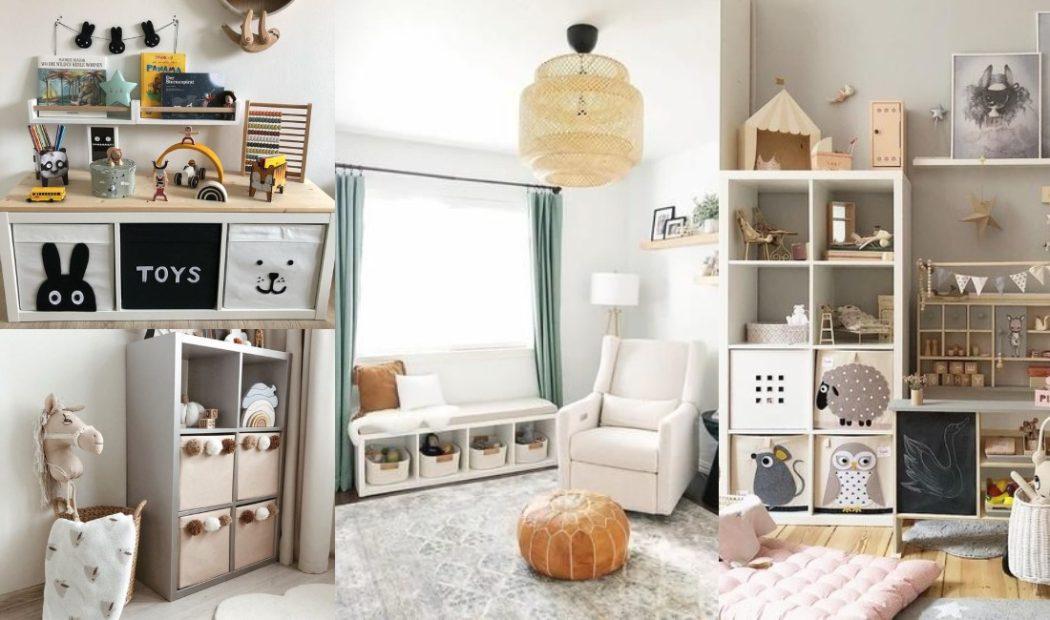 Estanterías Kallax para la habitación del bebé