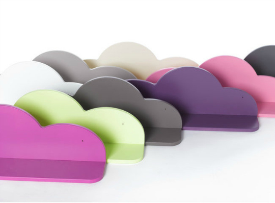 Bonitas estanter as con forma de nube decoraci n beb s - Estanterias infantiles originales ...
