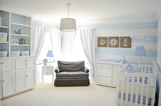 Habitación de bebé de estilo Náutico
