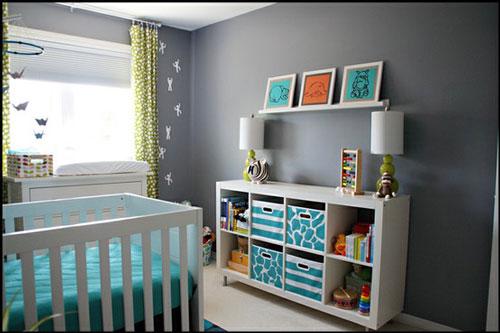 Encantador Habitacin Del Beb Estanteras Muebles Composicin