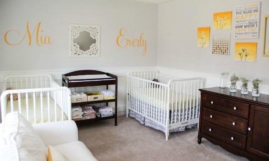 gemelos gemelos with decoracion dormitorio bebe nio