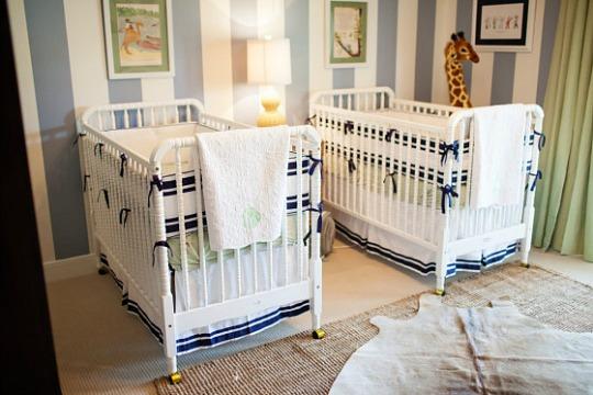 Habitaciones bebes gemelos for Cuartos para ninas gemelas
