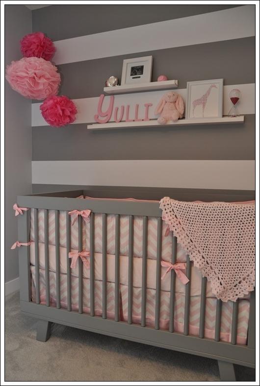 Habitaciones para bebés en gris  DECORACIÓN BEBÉS