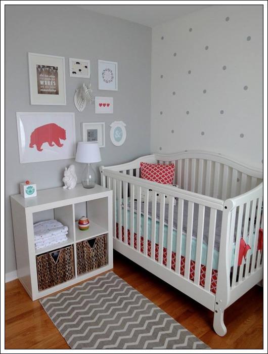 Habitaciones para bebés en gris
