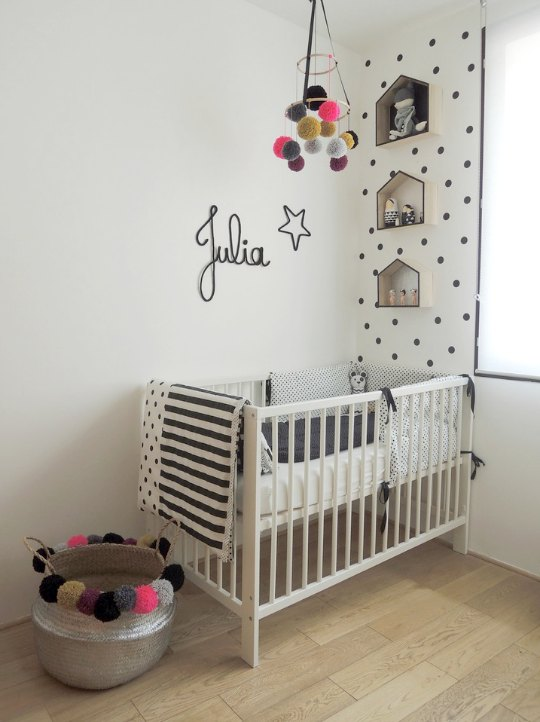 El dormitorio de julia decoraci n beb s for Decoracion habitacion bebe manualidades
