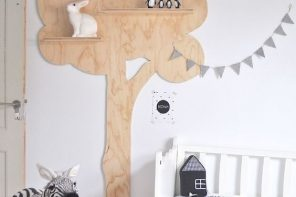 Decorar con árboles el cuarto del bebé