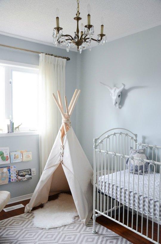Azul celeste habitación bebé