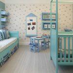 Habitación para niña en azul turquesa