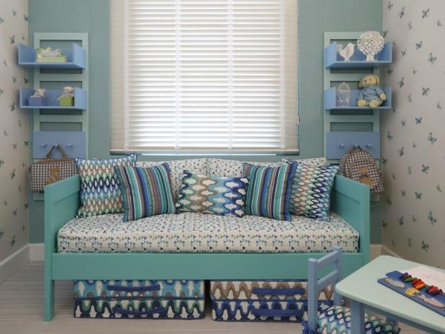 Habitación para niña en azul turquesa  DECORACIÓN BEBÉS