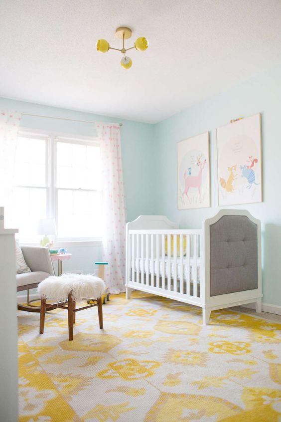 Habitación bebé azul celeste